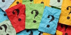 Niet-weten - vraagtekens op gekleurde briefjes
